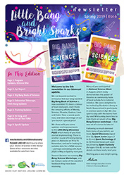 Little Bang nd Bright Sparks newsletter